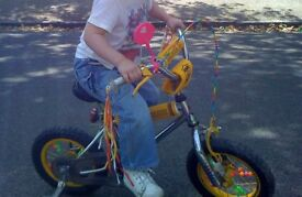 Custom Made Childs Bike Sunshine Lollipops and Rainbows