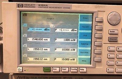 Hp 8164a Lightwave Measuring System Mainframe