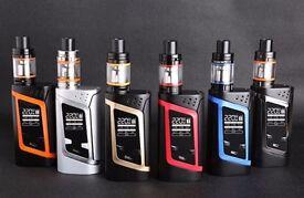 SMOK ALIEN KIT 220W TC MOD TFV8 BABY TANK + 18650 Efest 3000Mah Battery Option