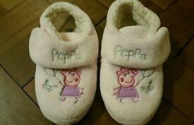Next peppa pig girls pink slippers size 12 ( hardly worn as out grew in a month)