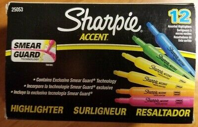 Sharpie Accent Highlighters Assorted Colors Pack Of 12