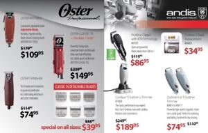Oster and Andis clippers