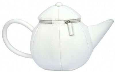 Alice in Wonderland Costume White Teapot Shape Mad Hatter Tea Party Purse - Tea Bag Costume