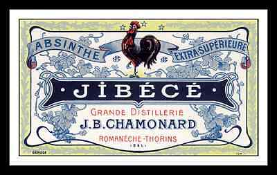 JIBECE (ROOSTER) ABSINTHE DISTILLERY LABEL PRINT