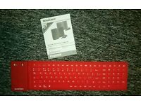 Silvercrest silicone roll up Bluetooth keyboard