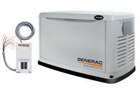 Génératrice Generac au propane ou gaz naturel de 17 kW à vendre!