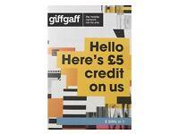 Giffgaff SIM card with £5 FREE CREDIT