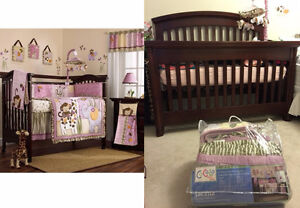 Crib, Mattress, CoCaLo Baby Jacana Bedding Set