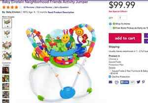 Baby Einstein Neighborhood Friends Activity Jumper saucer