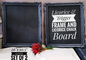 Black Solid Wood Chalkboard Frames