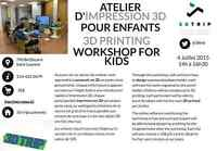 Atelier d'impression 3D | 3D printing Workshop