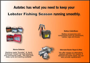 Commercial Fishing Batteries, Starters & Alternators
