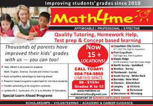 *Tutor $8 -$15/Hr @ Math4me