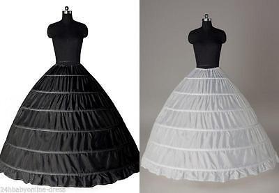 Neu Reifrock 6 Ringe TÜLLROCK Petticoat Unterrock Krinoline Brautkleid