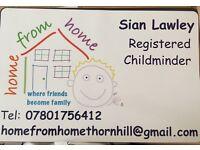 Registered childminder SCHOOL HOLIDAY PLACES