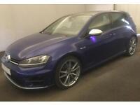2015 BLUE VW GOLF R 2.0 TSI 300 DSG 4X4 PETROL 5DR HATCH CAR FINANCE FR £62 PW