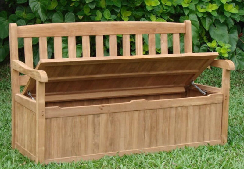 how to make an outdoor storage bench. Black Bedroom Furniture Sets. Home Design Ideas