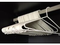 Clothes Hangers White x48 PERFECT COND