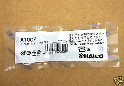 1pc Nozzle Tip A1007 1.6mm For Hakko Ha-808 808 Desoldering Tool Japan