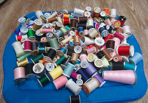 160 plus of quality spools of thread for sewing projects