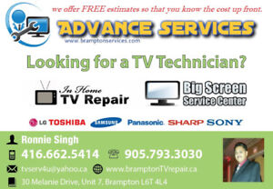 TV Repair Brampton, TV Backlight Repair , LG,Samsung,SHARP