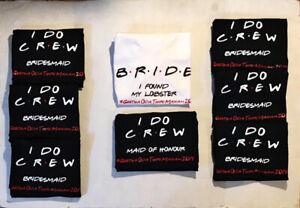 Custom Bachelorette Bride Party Shirts, Tank Tops, caps & more