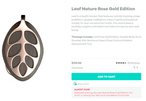 Bellabeat Leaf Nature Rose Gold Activity and Health Tracker