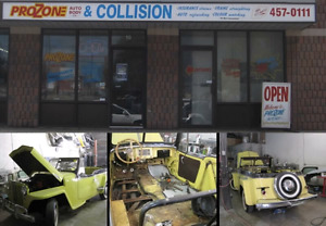 We cover  your deductible  up to $500..on collision work