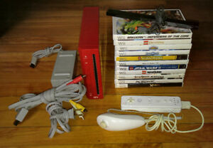 Nintendo Wii Console w/ 11 Games