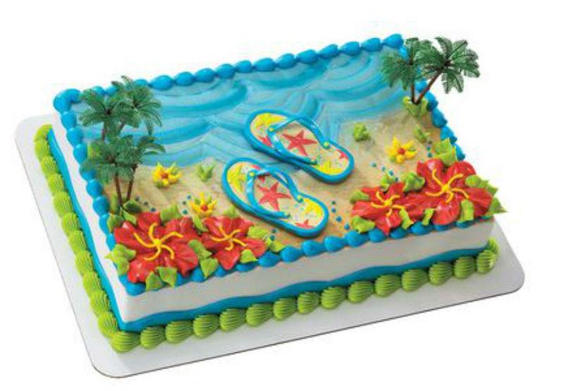 Summer Flip Flops Beach cake decoration Decoset cake topper