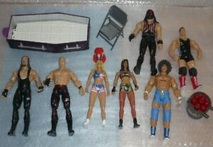 Loose WWE Basic figures/ Jakks (lot of7)