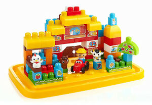 Mega Bloks Tub Town Large Farm + Move'n Groove Caterpillar