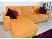 *****THREE SEATER L SHAPED SOFA BED WITH RECLINER ****** VERY COMFORTABLE