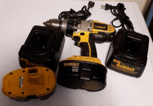 DeWalt drill with 2 batteries  and 2 chargers