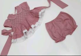 Brand new baby girls smock dress set