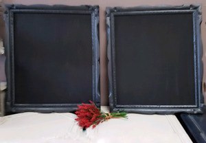 Licorice and Trigger Custom Finished Frames with Chalkboards