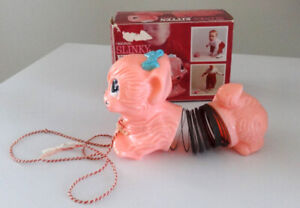 ORIGINAL 1960'S SLINKY KITTEN PULL TOY IN BOX
