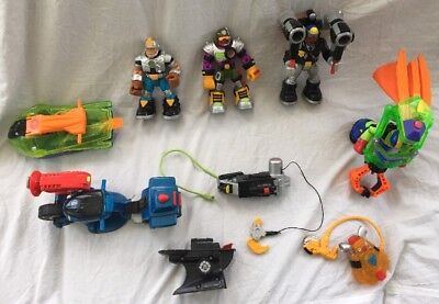 Vintage Lot Of Rescue Heroes and Accessories and Vehicles