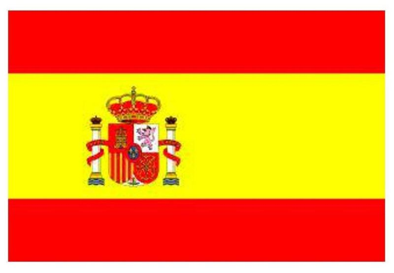 2 x 5ft x 3ft Spain Country National Flag Indoor Outdoor Eyelets Sports Event