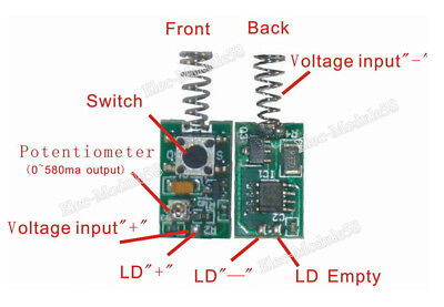 Quality 808nm100mw-500mw Laser Diode Driver Constant Current Reverse Protection