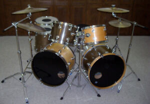 Rare double bass Camco drum kit