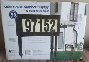 NEW Solar House Number Display