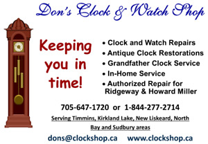 Don's Clock & Watch Repair Serving North Bay and Area