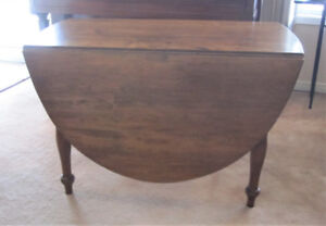 Antique Solid Wood Drop Leaf Table