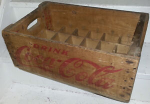 High Grade Antique COKE COCA COLA WOOD CRATE