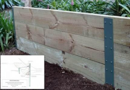 EAS Retaining Wall Posts Kits. No Dig. No Concrete Thornton Maitland Area Preview
