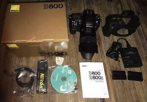 NIKON D800 camera & lense set MINT condition Rhodes Canada Bay Area Preview