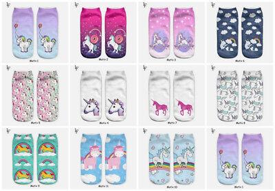 Damen Socken Sneaker EINHORN  Unicorn Fabeltier magisch One Size