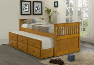 Captains Bed With Pull Out Trundle/Drawers