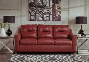 DUPREE GENUINE LEATHER SOFA - $1399 NO TAX - FREE LOCAL DELIVERY